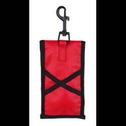 Poliéster com velcro com sacos de plástico com gancho gatilho e alças elásticas para anexar na coleira