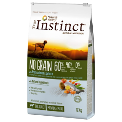 INSTINCT DOG NO GRAIN MEDIUM ADULT SALMON 12KG