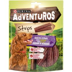 Deliciosas Tiras para cães com um espírito natural de aventura! Alimento complementar para cães adultos. Aroma a Veado.
