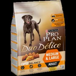 Purina PRO PLAN DUO DELICE é um alimento completo para cães adultos de todos os tamanhos, que oferece uma combinação única de cr