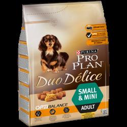 Purina PRO PLAN DUO DELICE é um alimento completo para cães pequenos ou mini, que oferece uma combinação única de croquetes croc