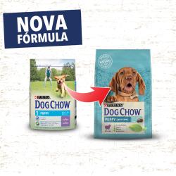 DOG CHOW Puppy é um alimento completo para cachorros que suporta o crescimento saudável e forte. Garante altos níveis de proteín