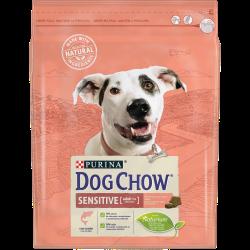 DOG CHOW Adult Sensitive é um alimento completo para cães adultos especialmente formulado para cães com pele, pelo e estômago de