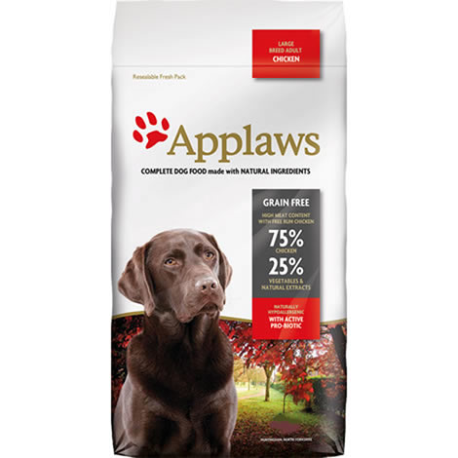 APPLAWS DOG DRY ADULT LARGE BREED CHICKEN 15KG