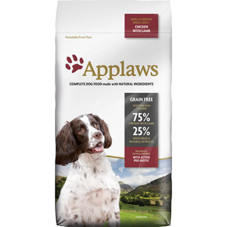 APPLAWS DOG DRY ADULT SMALL/MEDIUM CHICKEN WITH LAMB 2KG