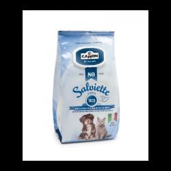 Indicado para cães e gatos. Toalhetes húmidos e perfumados que fazem a limpeza do pêlo e removem qualquer mau cheiro do animal.