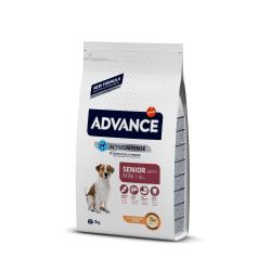 Para cães com mais de 8 anos e com peso até aos 10kg.  A sua compra inteligente: nutrição avançada por menos de 1? por dia!