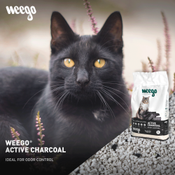 WEEGO CAT LITTER ACTIVE CHARCOAL 15L