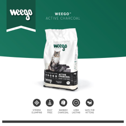 WEEGO CAT LITTER ACTIVE CHARCOAL 5L